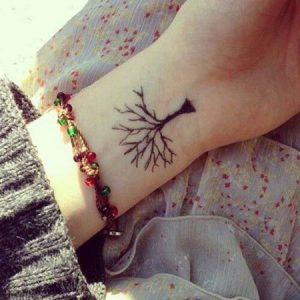 Small tree cute tattoos for girls