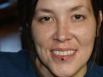 ashley labret piercing