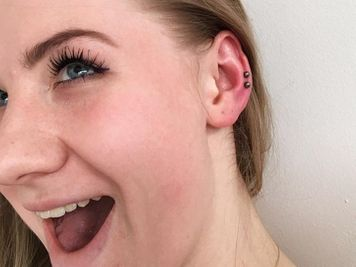 auricle piercing ideas