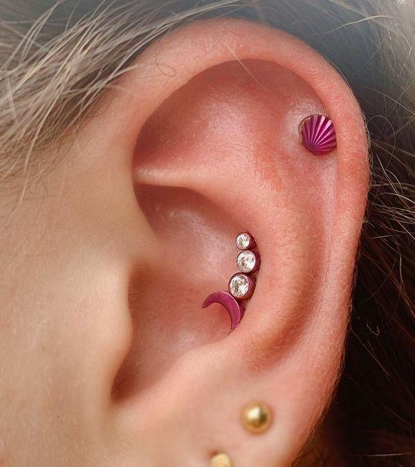 conch piercing healing