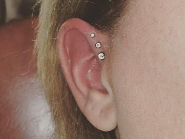 cool triple forward helix piercing