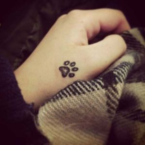 Cute tattoos for girls paw design