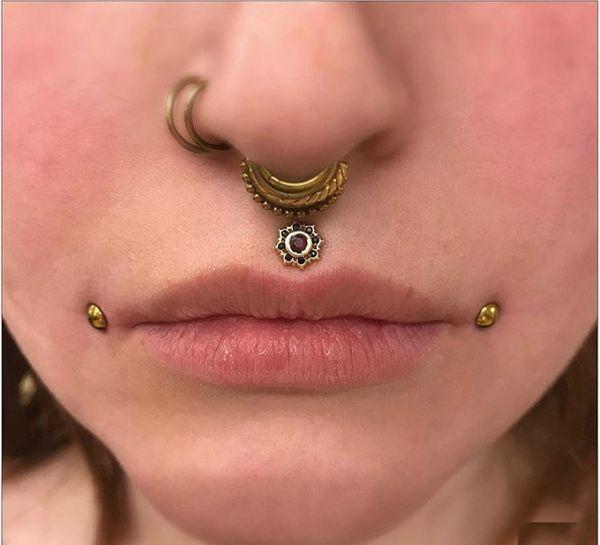 dahlia piercing and septum