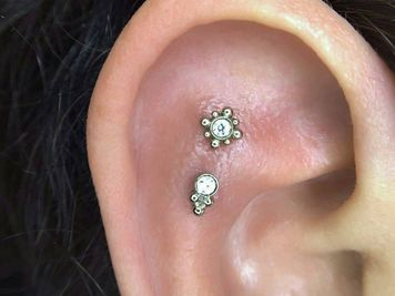 double cartilage ear piercing