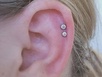 double cartilage piercing best image