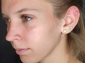 double cartilage piercing image