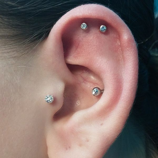 double cartilage piercing jewellery