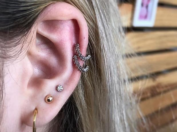 double cartilage best jewelry