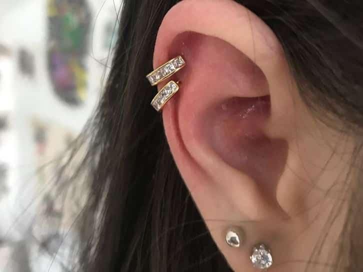 double helix piercing healing