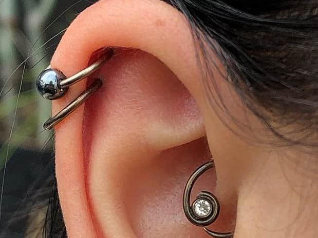 double helix piercing idea