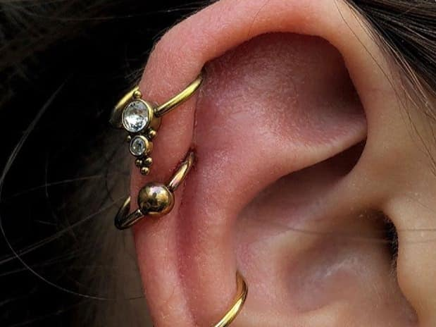 double helix piercing ideas