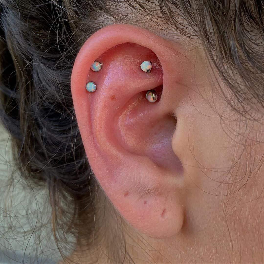double helix piercing jewelry