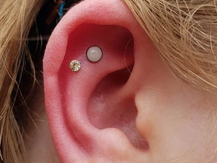 double helix piercing on cartilage
