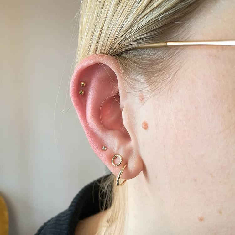 double helix piercing pic