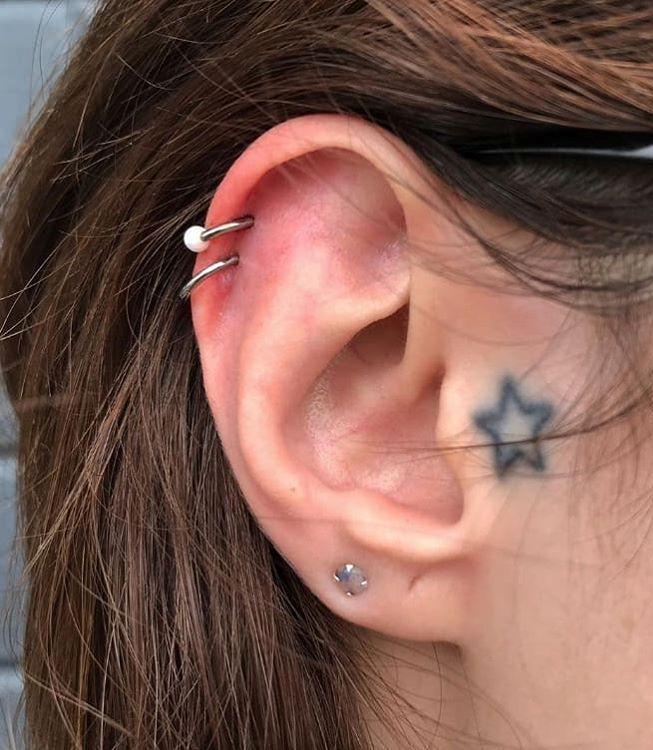 double helix piercing procedure