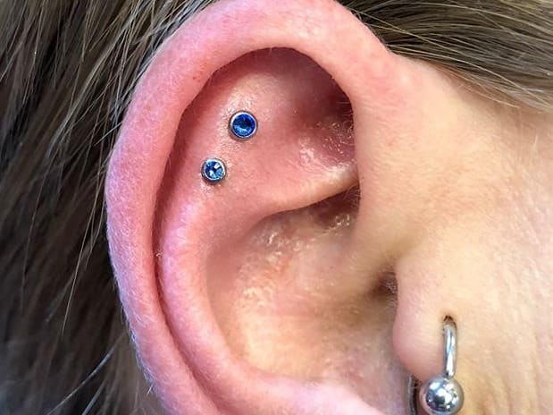 double helix piercing studs