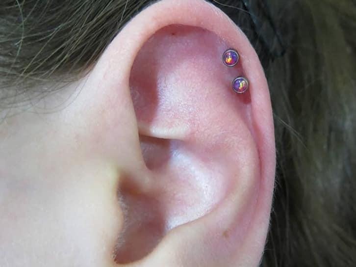 double helix piercings studs