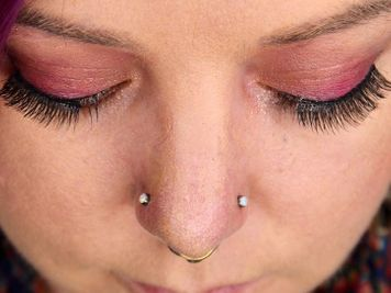double nose piercing opposite side