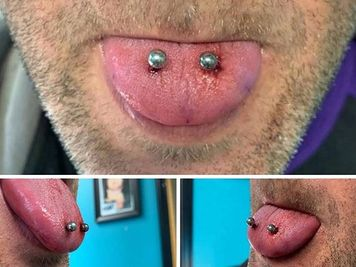 double tongue piercing pics