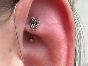 faux rook piercing