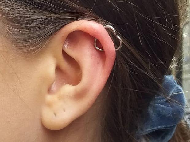heart orbital ear piercing