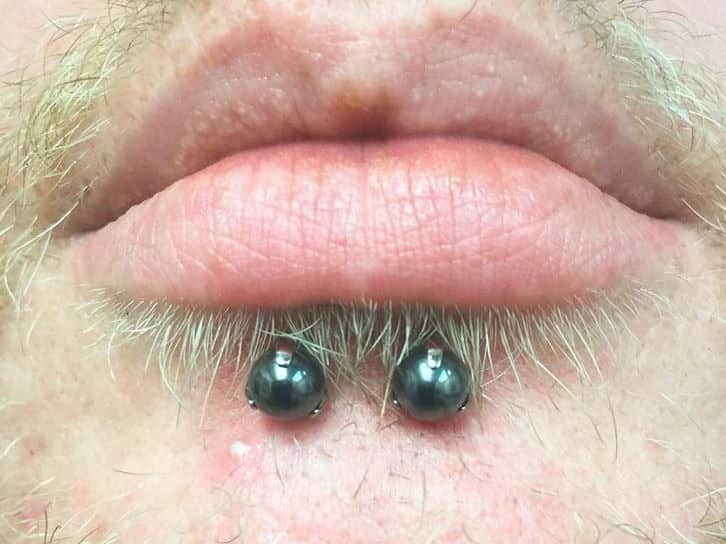 lip piercing for men