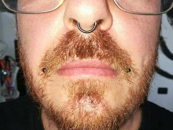 men dahlia piercing