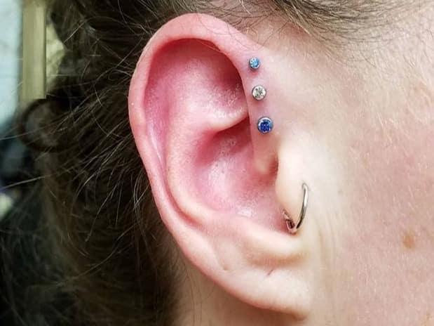piercing triple forward helix