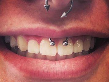 smiley piercing hoop