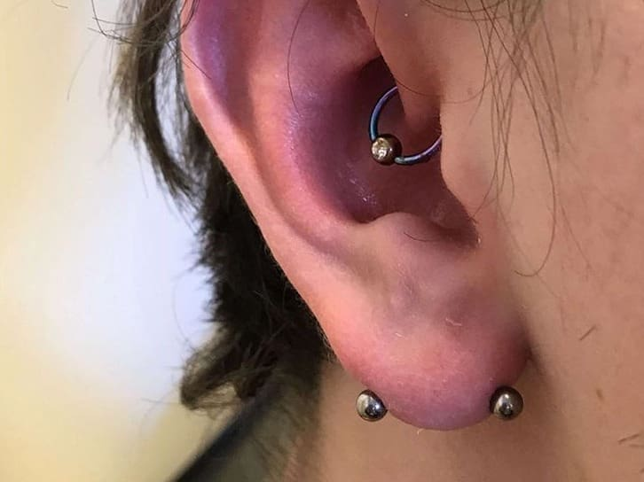 snug and lobe piercing