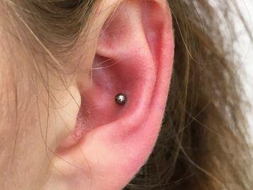 upper conch piercing